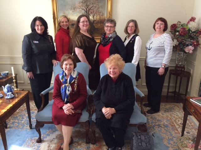 Members are pictured with State President Irene Walker and Honorary State President Betty Miller.